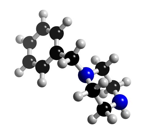 Picture of Benzylpiperazine 3D model
