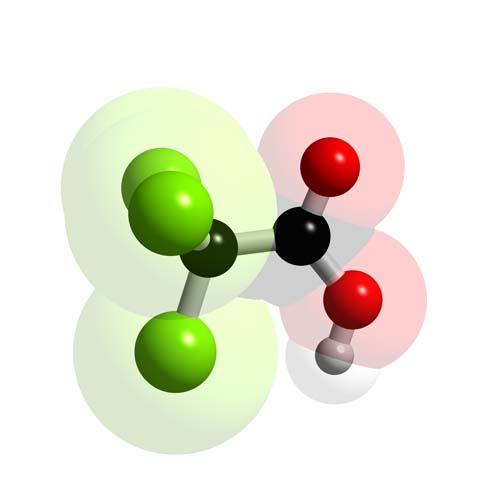 Picture of Trichloroacetic acid 3D model